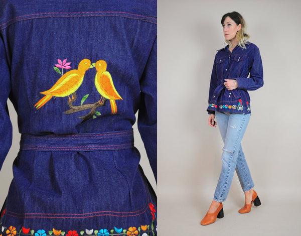 70's Love Birds Jean Jacket