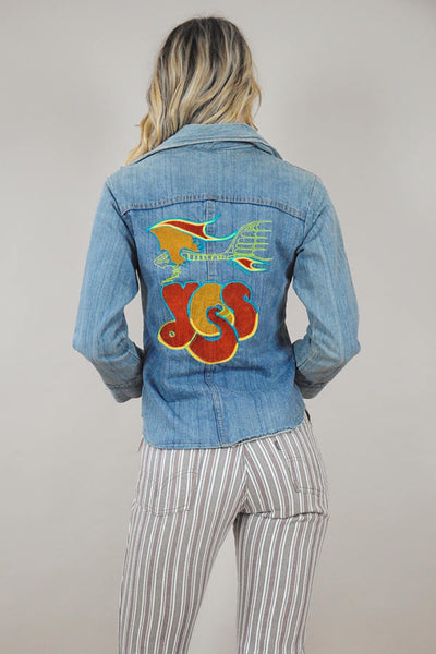 Embroidered YES Denim Shirt