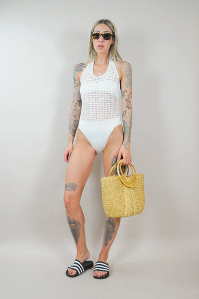 Crochet High Cut Swimsuit