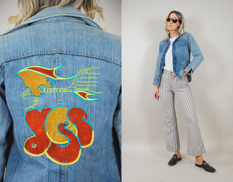 70's Light Wash Disco Jeans