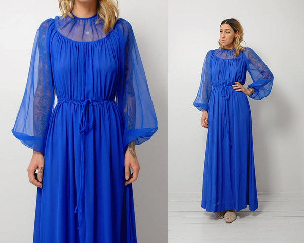 Chiffon Poet sleeve Dress