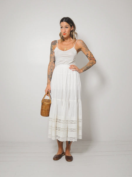 Grace Edwardian Cotton Skirt