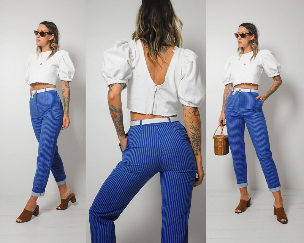 Marissa Pinstriped Trousers