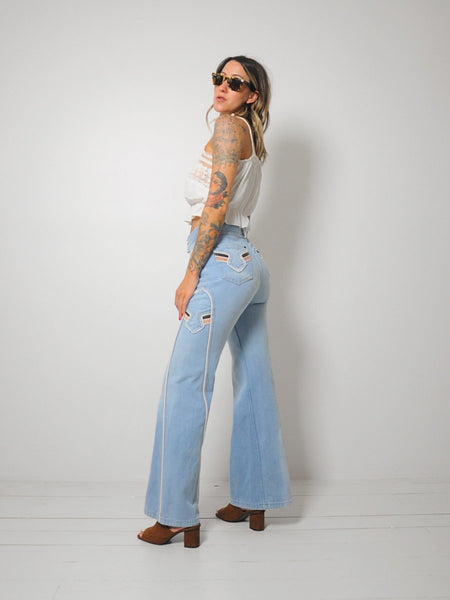 70's French Star Bellbottoms