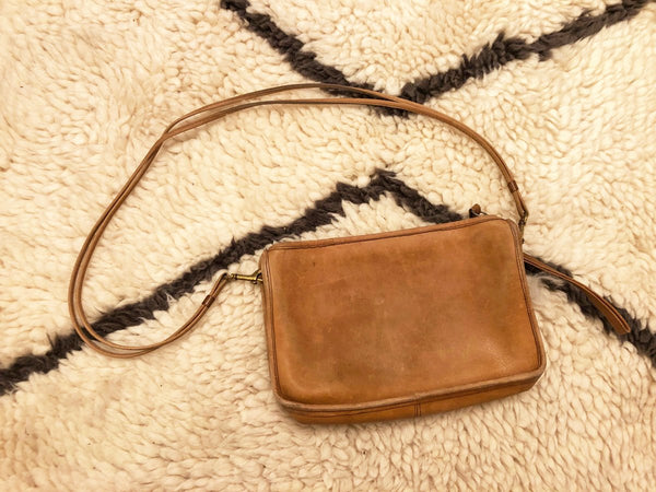 70's Coach British Tan Bag