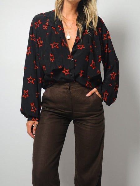 Krizia Silk Star Blouse