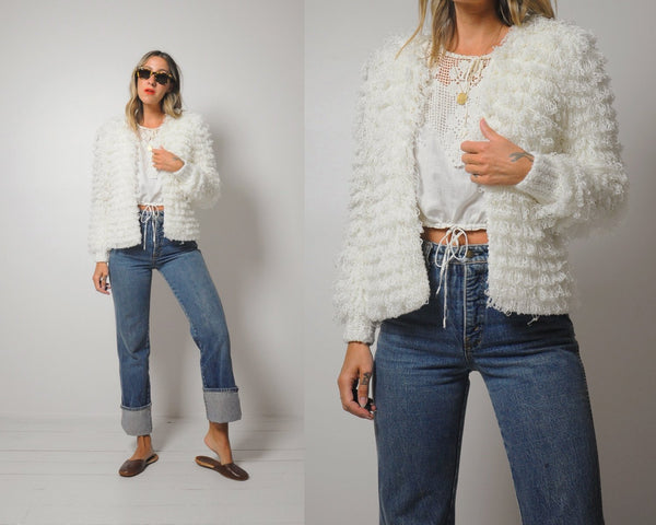 Macie Shaggy Sweater Jacket