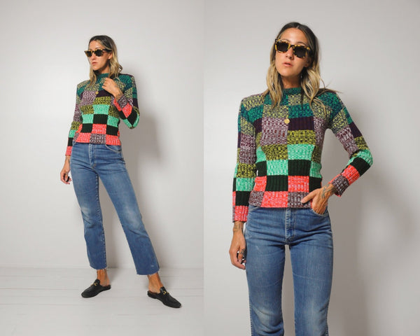 70's Nicola patchwork sweater