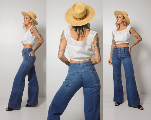 70's Hands Off Flared Jeans