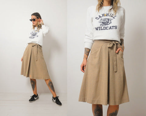 70's Wheat Wrap Skirt