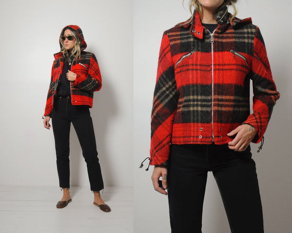 70's Tartan Plaid Wool Jacket