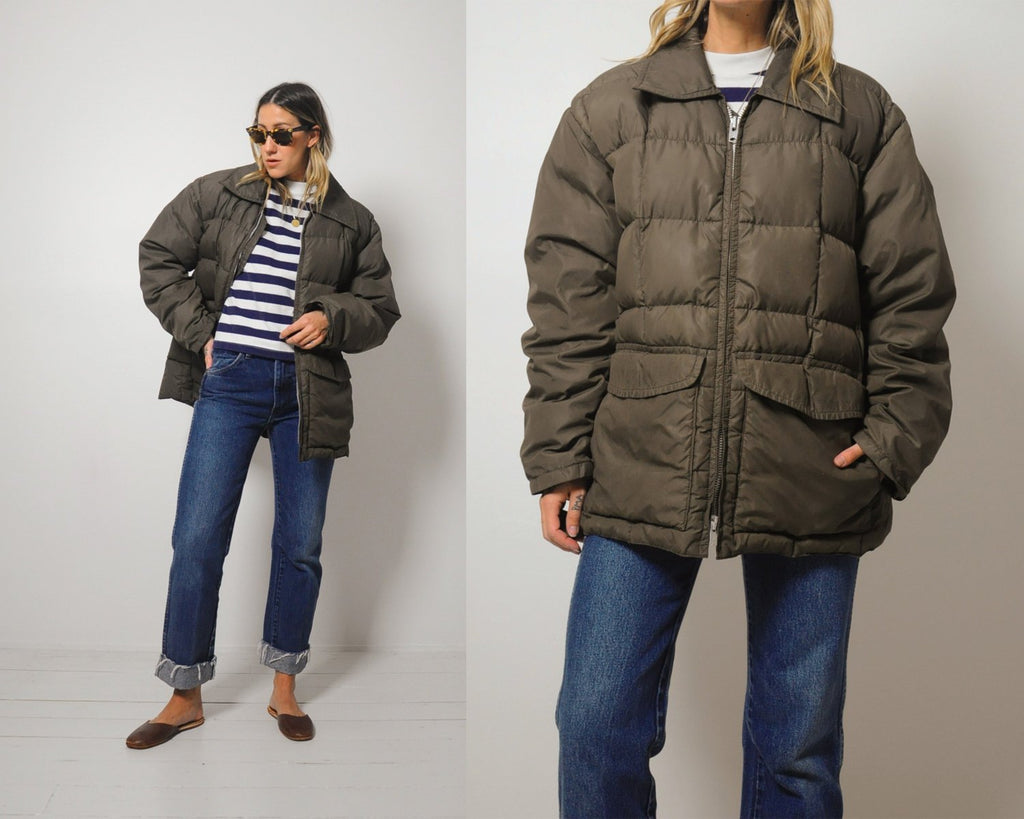 Quilted Goose Down Coat