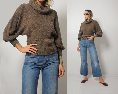 70's Cropped Cowl Sweater