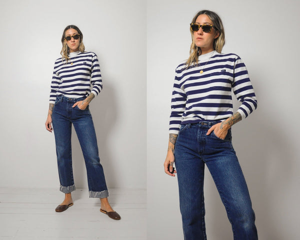 90s Cropped Striped T-shirt