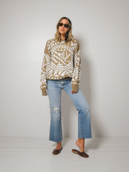 Oatmeal Geo Sweater