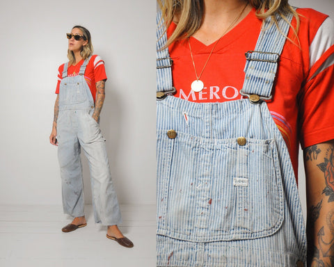 60's Lee Hickory Striped Overalls
