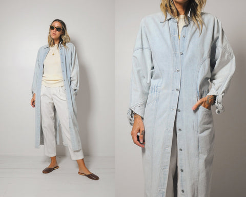 Light wash Denim Duster