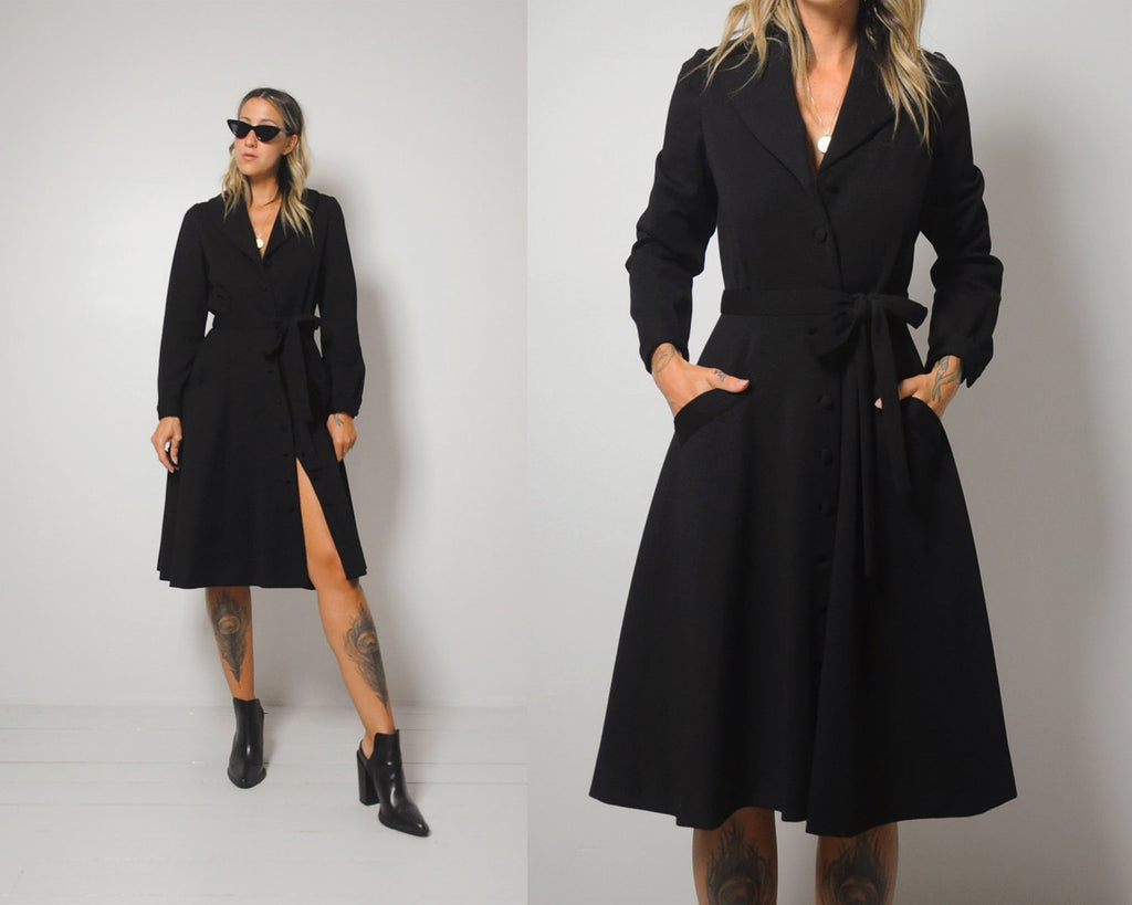 I. MAGNIN Wool Dress Coat