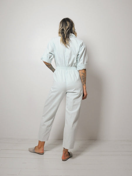 Light Denim Flight Jumpsuit
