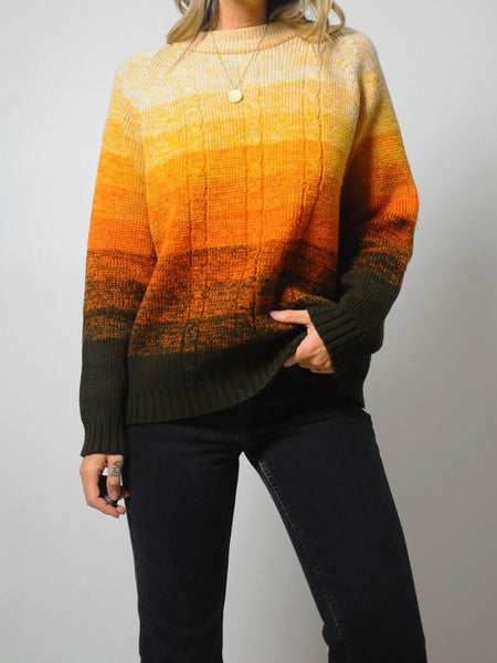 Autumnal Ombre sweater