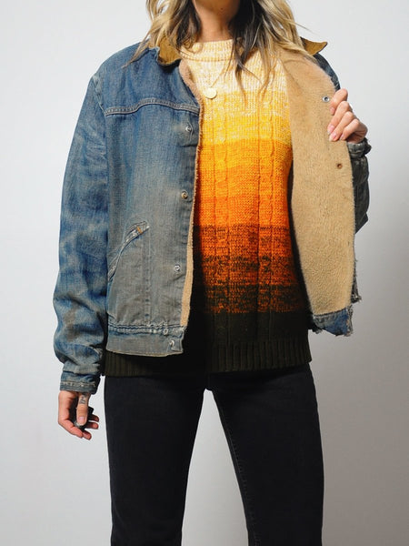 70's Fleece Lined Jean Jacket