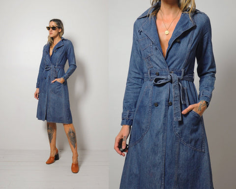 70's Astor Denim shirt Dress
