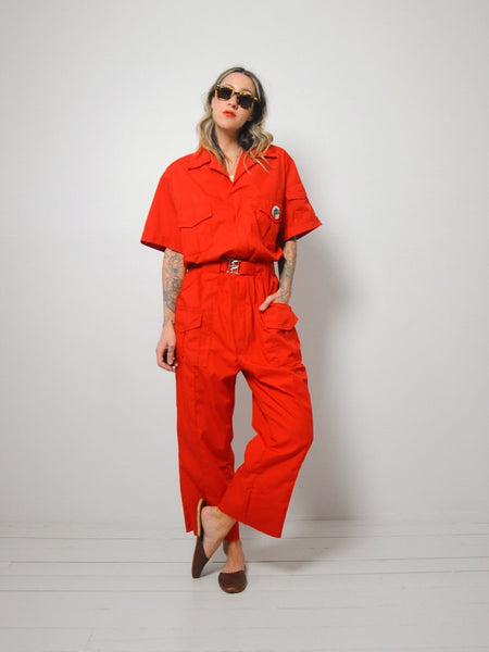 Red Fisherman's Jumpsuit