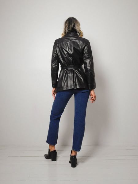 70's Belted Leather jacket