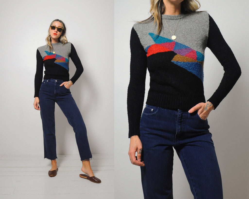 70's Zurich geometric sweater