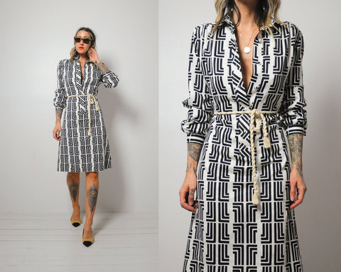 Lanvin Signature Print Shirt Dress