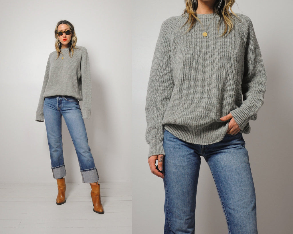 Marled Chunky Ribbed Sweater