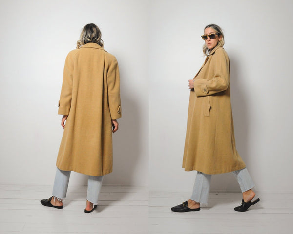 Camel Hair Swing Coat