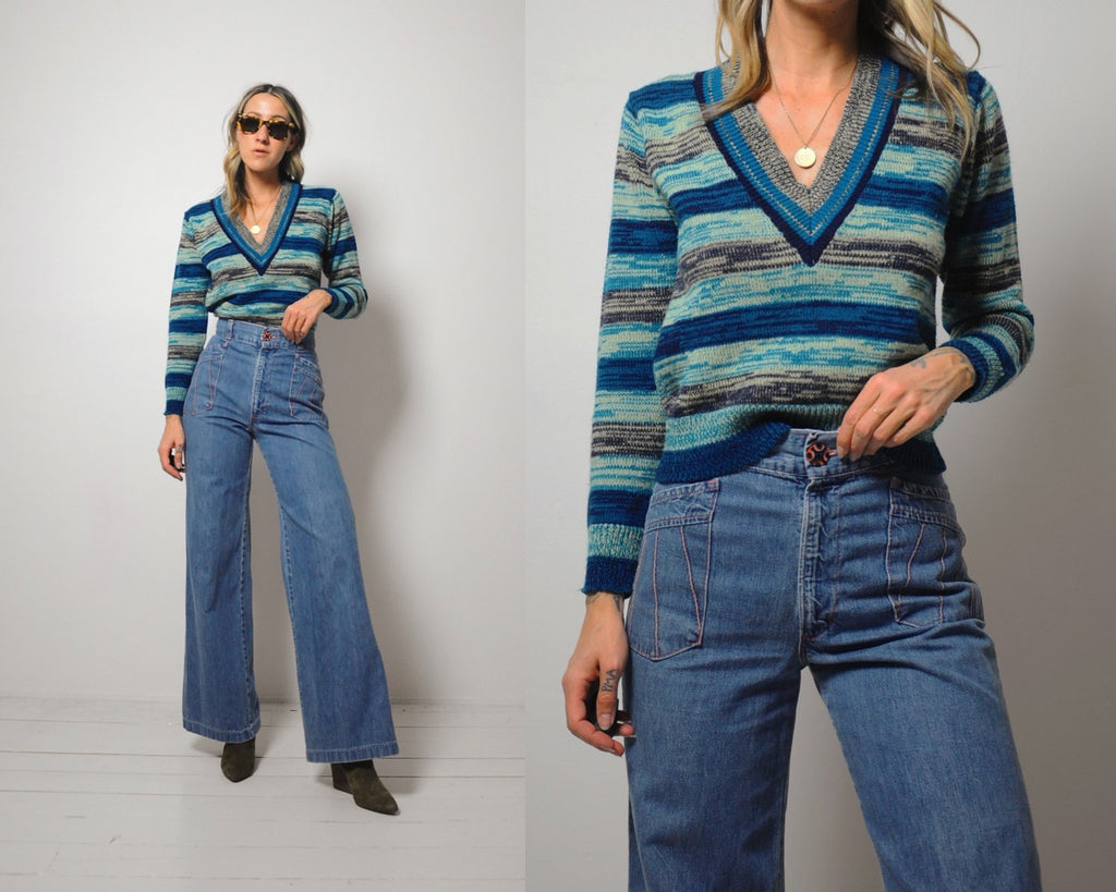 70's Space Dyed Stripe sweater