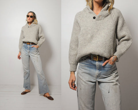 Shawl Collar Fisherman's Sweater
