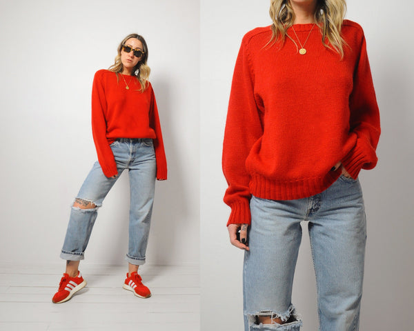Oversized Scarlet Sweater
