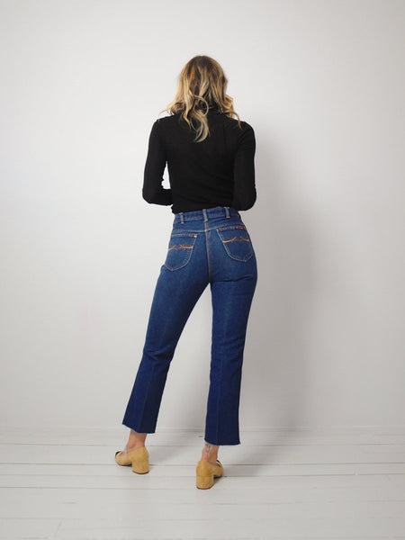 70's Horse Stitched Jeans 24x27