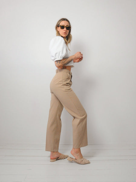 Wheat Pleated Trousers 26x27.5