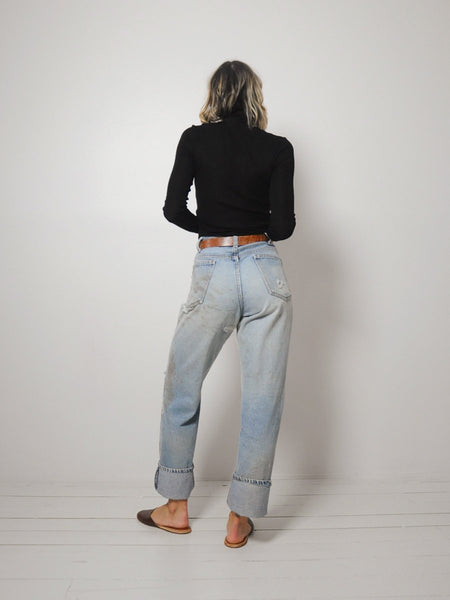 70's Faded Distressed Jeans 34x32