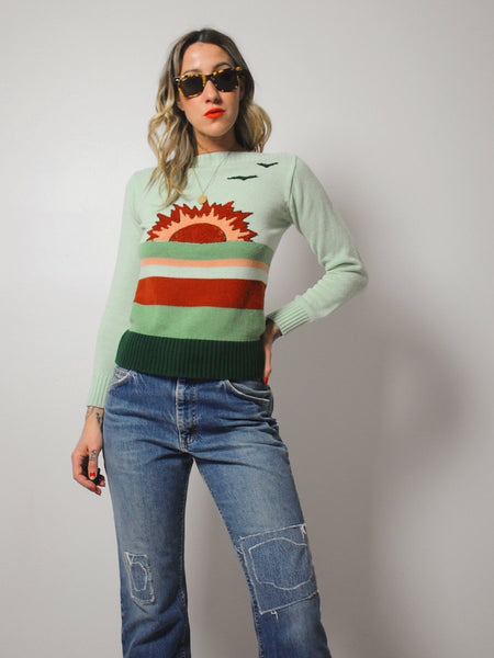 70's Sunrise striped Sweater