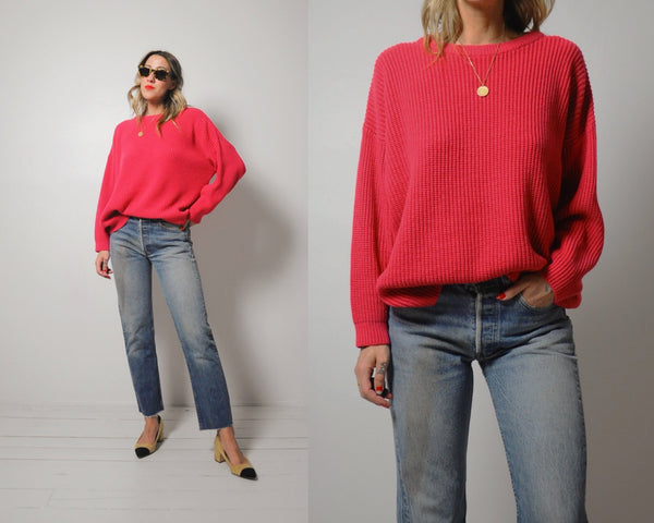Watermelon Slouchy Sweater