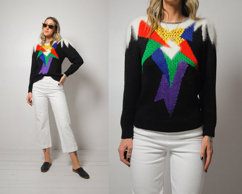 Rainbow Pop Art sweater