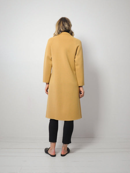Longline Camel Wool Coat