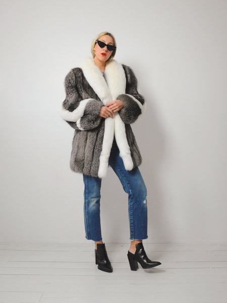 Silver Arctic Fox Fur Coat