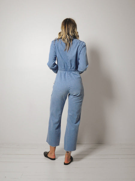 70s Zipper front Jumpsuit