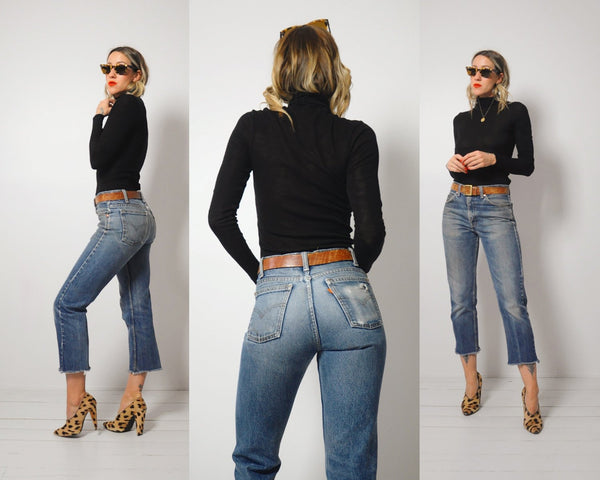 Levi's Cropped 70's Jeans 30x25