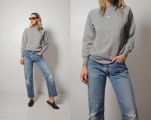 80's Soft Gray Sweatshirt
