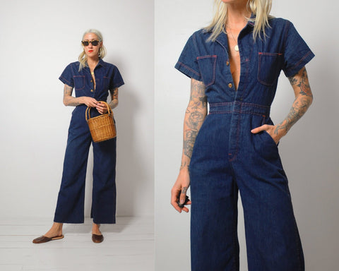 70's Pippa Denim Jumpsuit