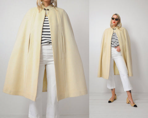 60s Buttermilk Swing Cape