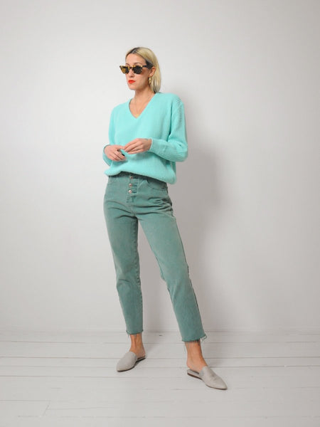 Spearmint Ribbed Sweater