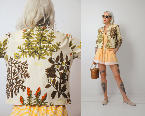 60's Botanical Herb Jacket